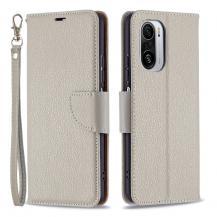 A-One BrandLitchi Plånboksfodral till Xiaomi Mi 11i / Poco F3 - Grå