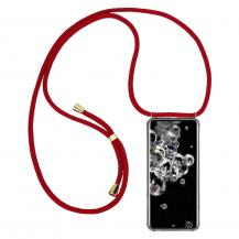 CoveredGear-NecklaceCoveredGear Necklace Case Samsung Galaxy S20 Ultra - Maroon Cord