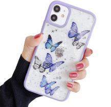A-One BrandBling Star Butterfly Skal till iPhone 12 / 12 Pro - Lila
