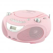 ChampionChampion Boombox CD / Radio / MP3 / USB Rosa