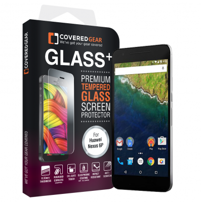 CoveredGear härdat glas skärmskydd till Huawei Nexus 6P