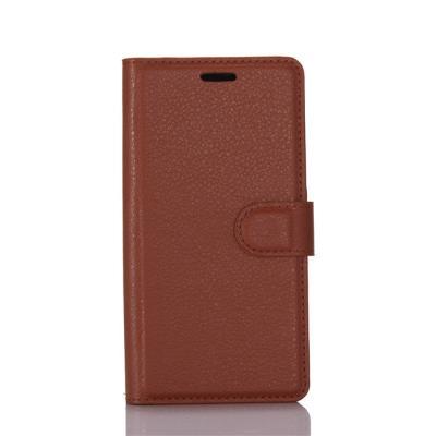 Litchi Plånboksfodral till Nokia 6 - Brun