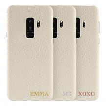 TheMobileStoreDesigna själv - Galaxy S9 konstläder skal - VIT