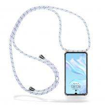 CoveredGear-NecklaceCoveredGear Necklace Case Huawei P30 - White Stripes Cord