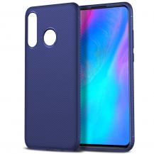 OEMTwill Texture Flexicase Skal till Huawei P30 Lite - Blå