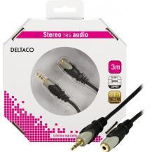DeltacoDELTACO, ljudkabel 3,5mm ha - ho, guldpläterad, 3m
