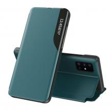 HurtelEco Leather View Case Fodral Galaxy Note 20 Ultra Grön