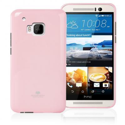 Mercury Jelly Flexicase Skal till HTC One M9 - Rosa