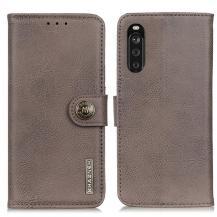 KHAZNEHKhanzeh - Plånboksfodral Sony Xperia 10 III - Grå