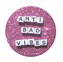 PopSocketsPOPSOCKETS Anti Bad Vibes Avtagbart Grip med Ställfunktion