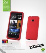 SeepooSeepoo Silikonskal till HTC One (M7) (Röd) + Skärmskydd