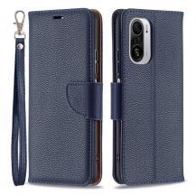 A-One BrandLitchi Plånboksfodral till Xiaomi Mi 11i / Poco F3 - Blå