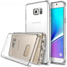 RearthRingke Fusion Shock Absorption Skal till Samsung Galaxy Note 5 - Crystal View