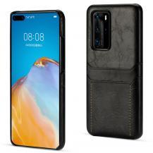 A-One BrandSkal med kortplatser till Huawei P40 - Svart