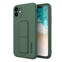 WozinskyWozinsky Kickstand Silicone Skal iPhone 11 Pro Max- Mörk Grön