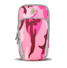 FlovemeFloveme Camouflage universal sportarmbands-väska - Rosa