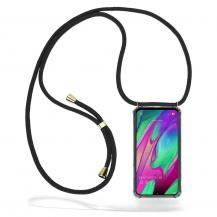 CoveredGear-NecklaceCoveredGear Necklace Case Samsung Galaxy A40 - Black Cord