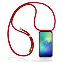 CoveredGear-NecklaceCoveredGear Necklace Case Samsung Galaxy S10e - Maroon Cord