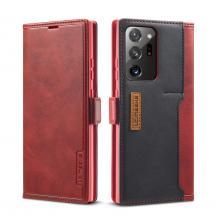 LC.imeekeLC.IMEEKE Leather Card Holder Fodral Till Galaxy Note 20 Ultra - Röd