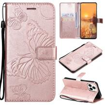 OEMFjärilar Plånboksfodral iPhone 13 Pro Max - Rose Gold