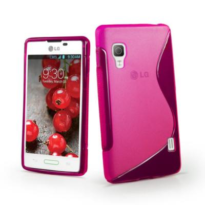 FlexiCase Skal till LG Optimus L4 II - E440 - Magenta