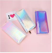 RaxterMermaid Laser Zipper Wallet för kvinnor - Violet