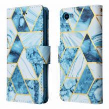 A-One BrandMarble Grid Plånboksfodral iPhone 7/8/SE 2020 - Blå