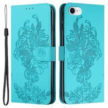 A-One BrandTiger Flower Plånboksfodral till iPhone 6/6S/7/8/SE - Turkos
