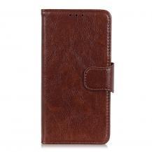 A-One BrandNappa äkta läder plånboksfodral Oneplus 8T - Brun