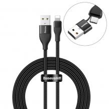 BASEUSBaseus Kabel USB/USB Type C PD 18W lightning 2A 1m Svart