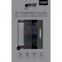 GEARGEAR Härdat Glas till Nokia 3 - Svart