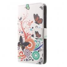 OEMPlånboksfodral till Sony Xperia E4 - Three Butterflies