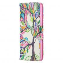 A-One BrandPlånboksfodral till Samsung Galaxy S21 Ultra - Colorful Tree