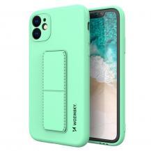 WozinskyWozinsky Kickstand Silicone Skal iPhone 11 Pro Max- Mint