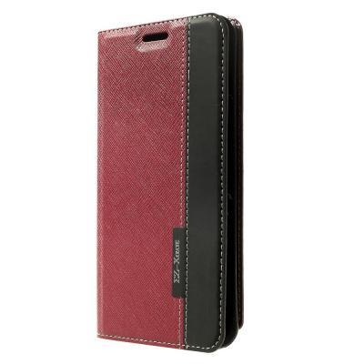 Plånboksfodral till Samsung Galaxy Note Edge - Röd/Svart