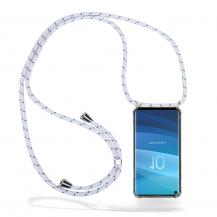 CoveredGear-NecklaceCoveredGear Necklace Case Samsung Galaxy S10 - White Stripes Cord