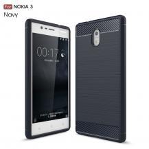 A-One BrandCarbon Brushed Skal till Nokia 3 - Blå