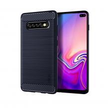 OEMCarbon Brushed Mobilskal till Samsung Galaxy S10 Plus - Blå