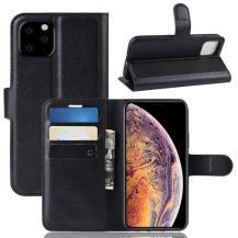 OEMLitchi Plånboksfodral till iPhone 11 Pro Max - Svart