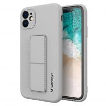 WozinskyWozinsky Kickstand Silicone Skal Phone 11 Pro Max- Grå