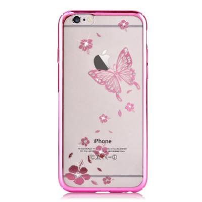 Vouni Kristall Skal till iPhone 6 / 6S - Magenta