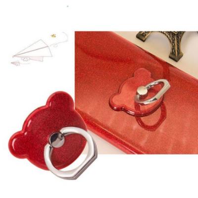 NalleBjörn Glitter Ringhållare till Mobiltelefon - Röd