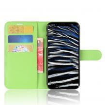 A-One BrandLitchi Plånboksfodral till iPhone XS / X - Grön
