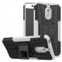 OEMRugged Armor Kickstand Skal till Nokia 6 - Vit
