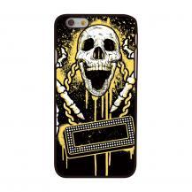 OEMBaksideSkal till Apple iPhone 6 / 6S - Skull Playing Music