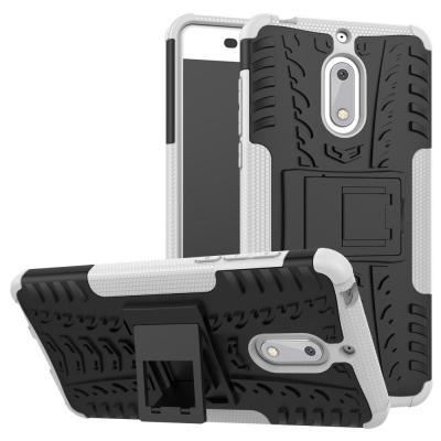 Rugged Armor Kickstand Skal till Nokia 6 - Vit