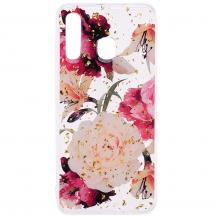 OEMGlitter Mobilskal till Samsung Galaxy A50 - Pretty Flowers