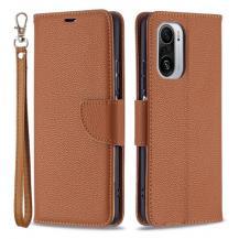 A-One BrandLitchi Plånboksfodral till Xiaomi Mi 11i / Poco F3 - Brun