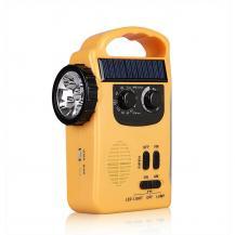 A-One BrandVevradio med Solceller och LED Lampa - Powerbank 1200mAh