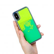 OEMLiquid Neon Sand skal till iPhone X - Grön